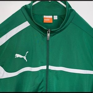 PUMA Men's Full-Zip Athletic Green Track Jacket